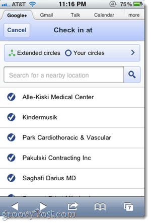 google+ location features