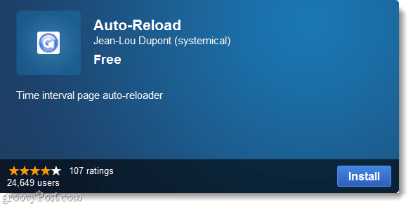 Chrome auto-reload plugin