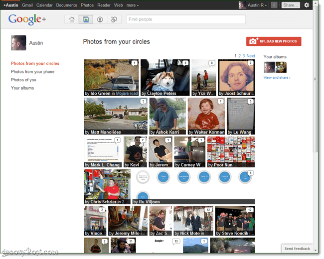 google plus photo stream