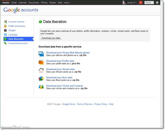 Google plus data liberation