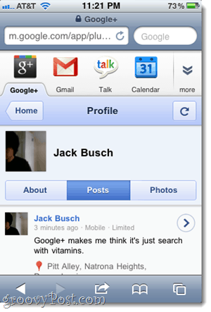 google plus profile iphone