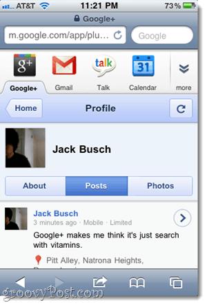 google plus profile iphone