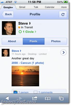 google plus chat status on iphone