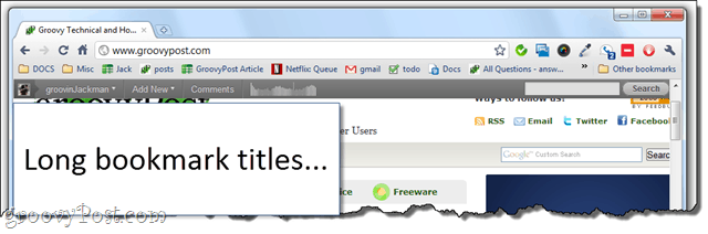 chrome tip: fit more into bookmarks bar
