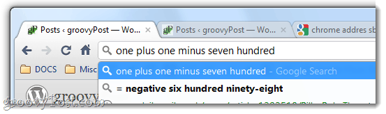 chrome does math