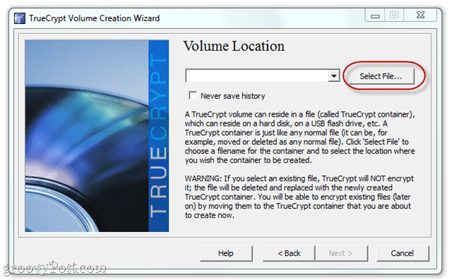 add an encrypted volume to dropbox