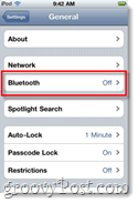 iphone bluetooth settings
