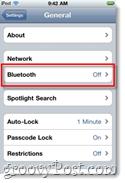 iphone bluetooth settings