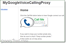 google voice calling proxy