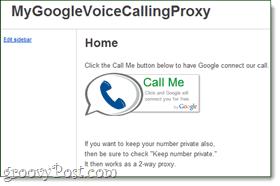 google voice calling proxy