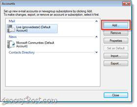 add an email account to windows live mail