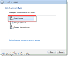 windows live mail email account