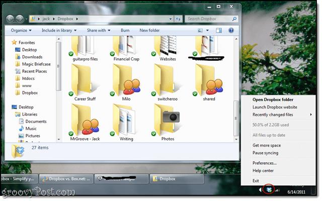 cloud syncing with dropbox desktop client