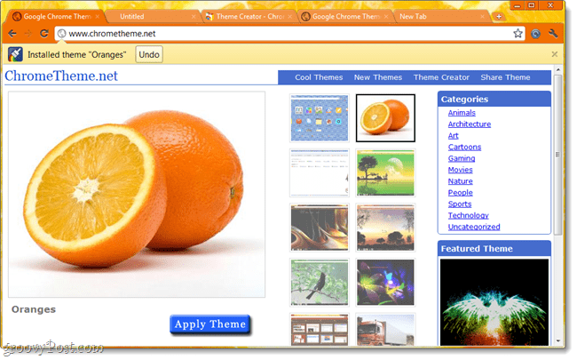 Personalize Google Chrome by Creating Your Own Themes