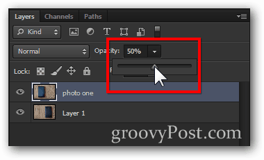 image opacity reduce step 2 Photoshop