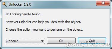 file in use error fix