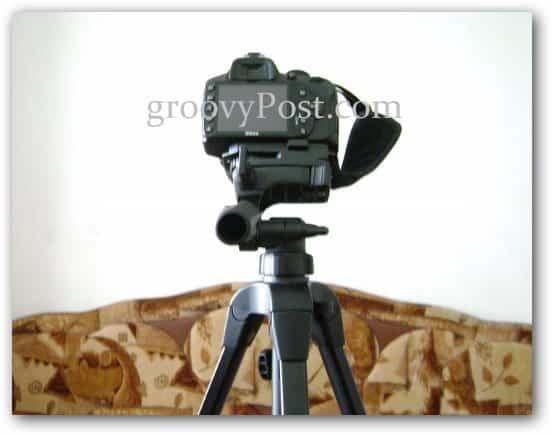 camera tripod setup