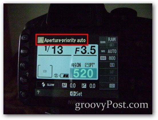 exposure aperture priority camera setup images info
