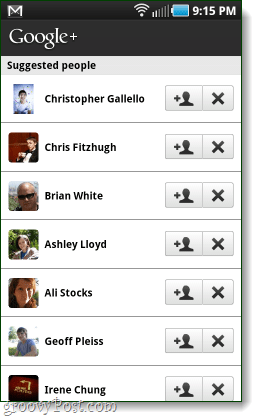 google+ suggested people