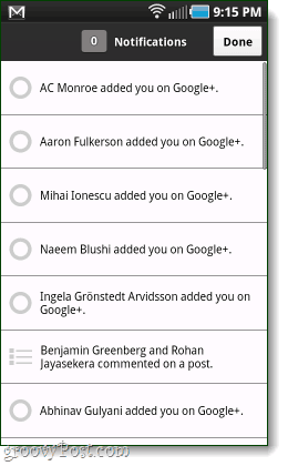 google+ android notifications