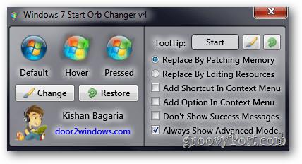 Start Orb Changer - more settings