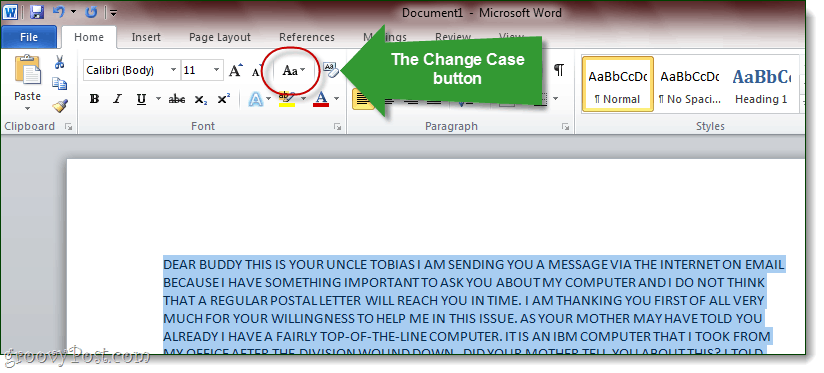 How To Convert All Caps Text To Sentence Case