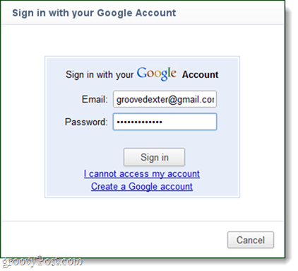 login to chrome account for sync