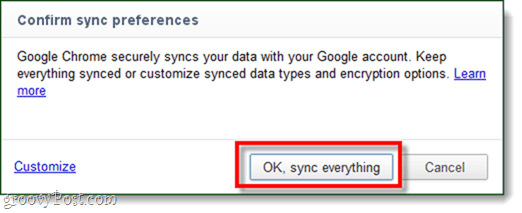 chrome sync everything