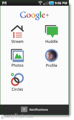google+ android home