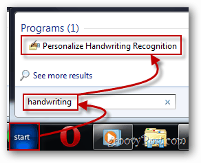 personalize the handwriting recognition