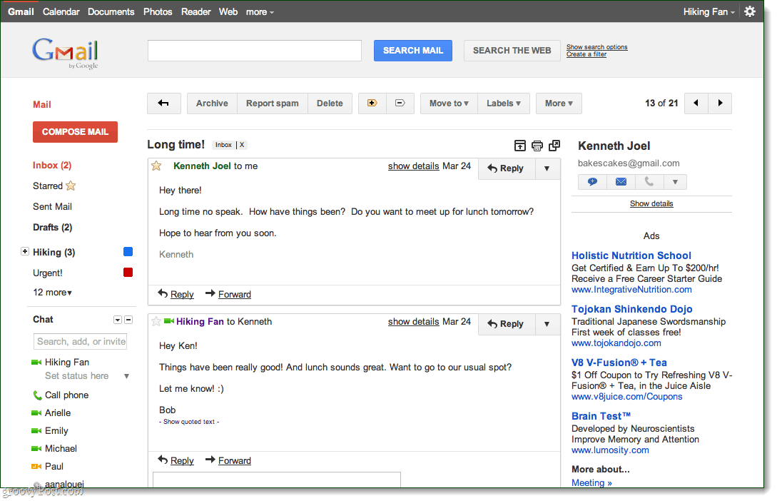 Gmail preview conversation theme