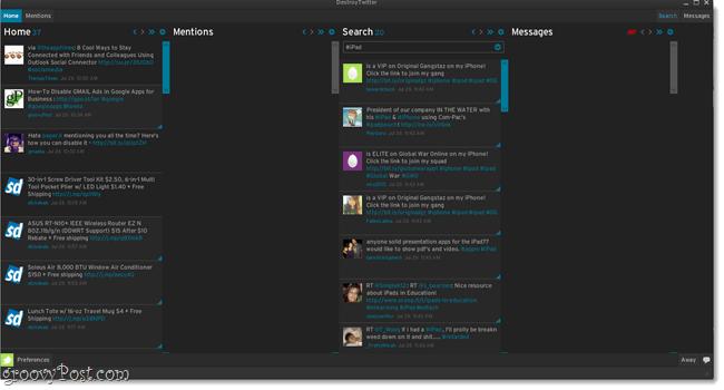 desktop maximized destroytwitter screenshot