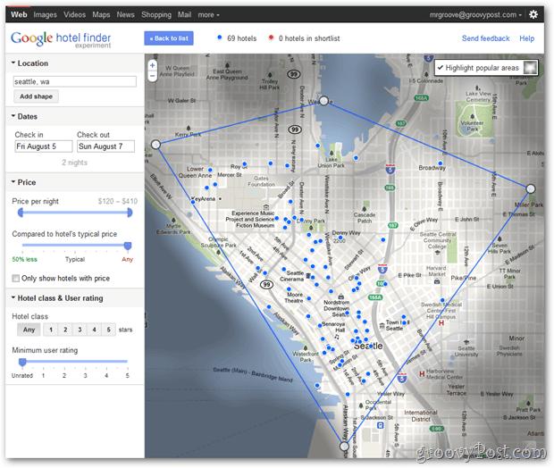 Google hotel finder image