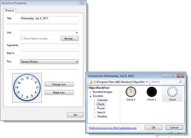 objectdock clock  themes