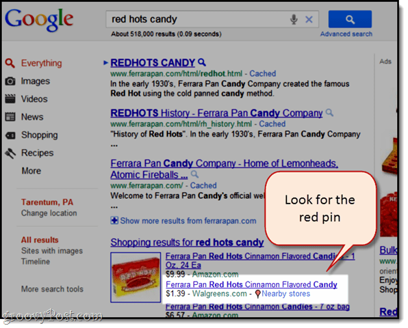 Google shopping: find in stock nearby