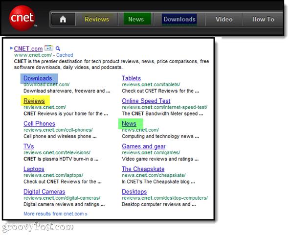 adding sitelinks in google