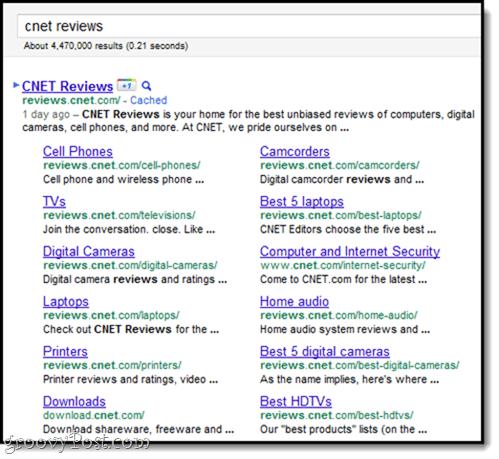 picking and choosing google sitelinks
