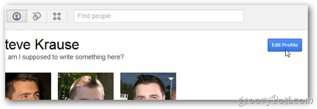 google+ edit profile