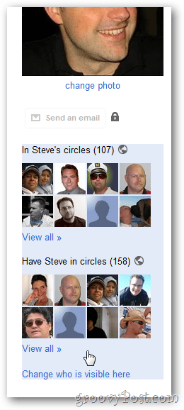 google+ profile circle