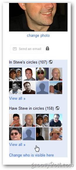 google+ profile circle