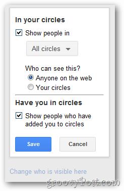 google+ profile circle display config
