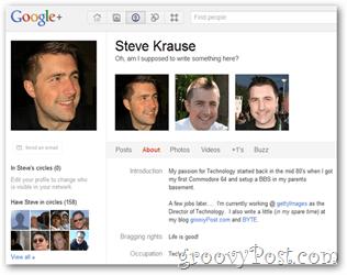 steve krause google+ profile updated privacy
