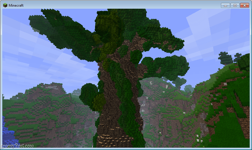 how to get a giant oak tree in minecraft