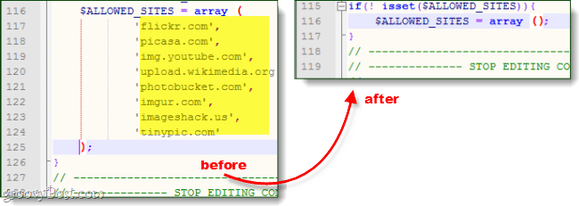 allowed sites array in timthumb