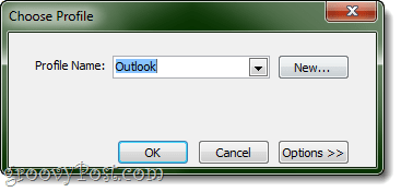Choosing a profile to export WL Mail to MS OUTLOOK