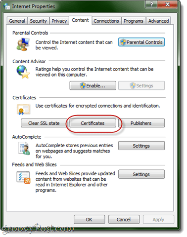 internet explorer certificates