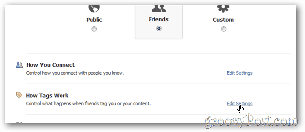 Facebook Privacy - Configure how tags work