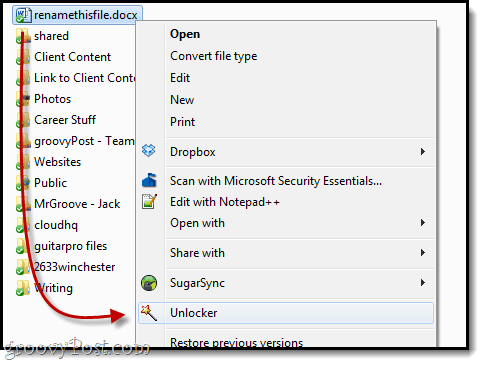 unlocking files in use by microsoft word