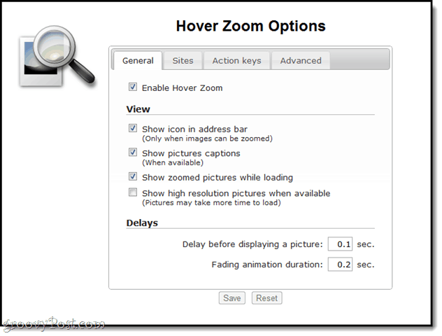 hover zoom customization