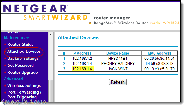 view attached devices on netgear
